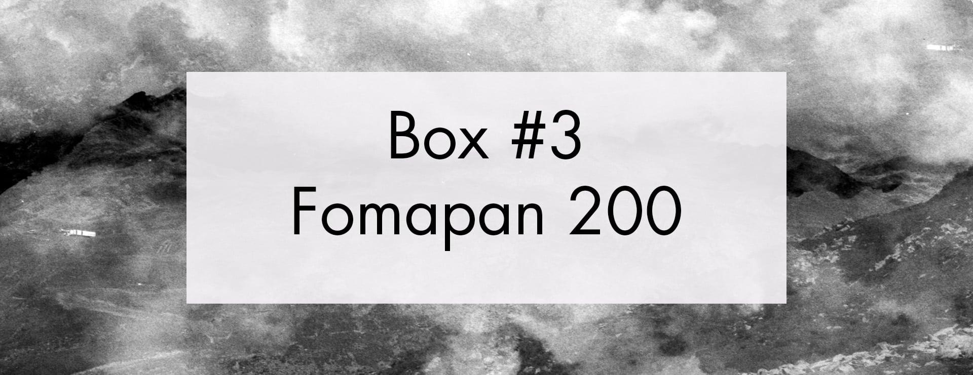 Box Film Mystère 3 – Fomapan 200