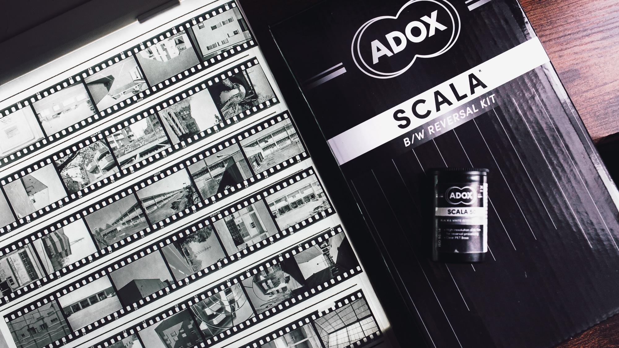 L'argentique noir et blanc en positif – Kit  Adox Scala